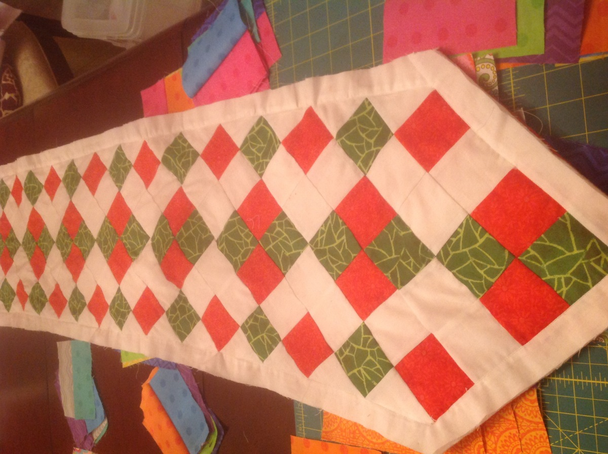 Christmas table runner finished
